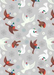 Hygge Glow Fabric | Flying Tomte Silver