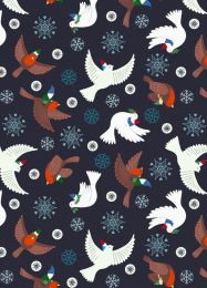Hygge Glow Fabric | Flying Tomte Charcoal