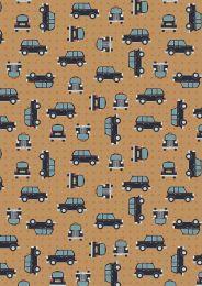 City Nights Fabric | Black Cab Copper On Copper