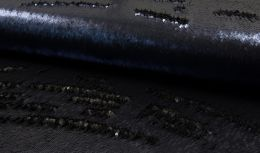 Cocktail Two Tone Sequin Fabric | Navy - Black