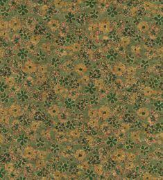 Cork Fabric Print | Daisy Meadow Green