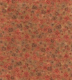 Cork Fabric Print | Daisy Meadow Red