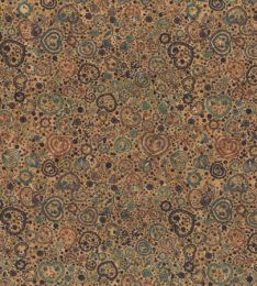 Cork Fabric Print | Hearts Mauve