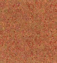 Cork Fabric Print | Hearts Red