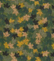 Cork Fabric Print | Leaf Green