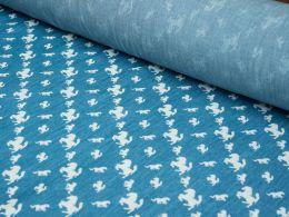 Cotton Chambray Fabric - Stallion Design | Empress Mills