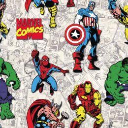 Cotton Fabric Print   Avengers United