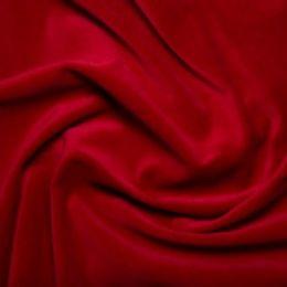 Classic Cotton Velvet Fabric | Wine