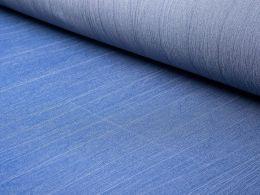 Crinkle Denim Fabric | Dark Blue