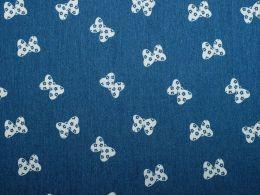 Denim Fabric Print | Butterfly Bow