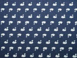 Denim Fabric Print | Swan Print