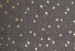 Denim Fabric Metallic Print | Star Light