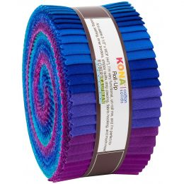 Kona Cotton Fabric Roll Up   Peacock Palette