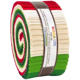 Kona Cotton Fabric Roll Up   Christmas Holiday Palette