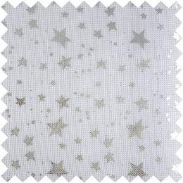 Christmas Fabric Mini Roll 2m x 28cm | Metallic Star