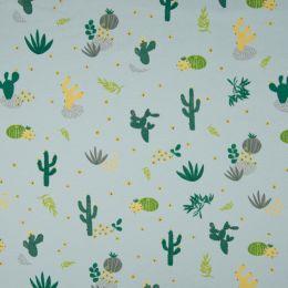 Jersey Cotton Fabric | Desert Flora Pale Blue