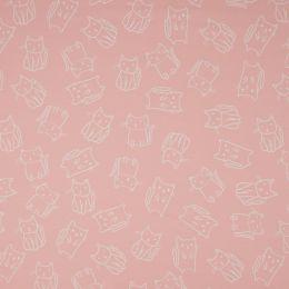 Jersey Cotton Fabric | Cats Salmon