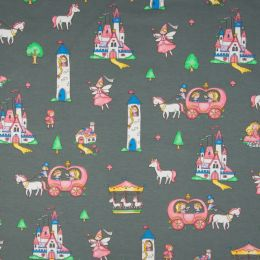 Jersey Cotton Fabric   Magic Castle