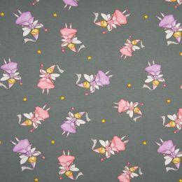 Jersey Cotton Fabric | Princess Grey