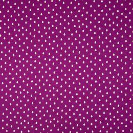 Jersey Cotton Fabric   Raindrops Fuchsia