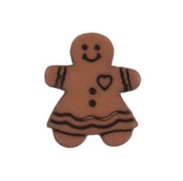 Ginberbread Buttons | Gingerbred Lady, 10pcs