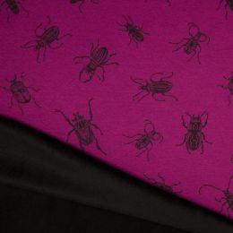 Luxury Sweatshirt Fabric   Bugs Fuchsia