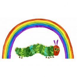 The Very Hungry Caterpillar Fabric | Rainbow Panel Cream