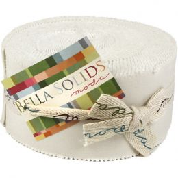 Moda Jelly Roll   Bella Solids White