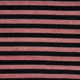 Chenille Knit Fabric | Stripe Old Rose