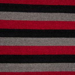 Chenille Knit Fabric | Stripe Multi Red