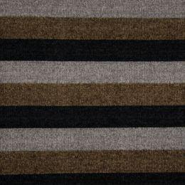 Chenille Knit Fabric | Stripe Multi Khaki