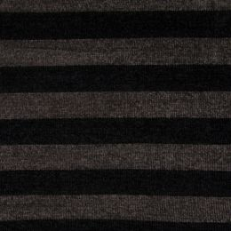 Chenille Knit Fabric | Stripe Multi Charcoal