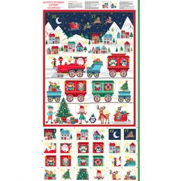 Santa Express Makower Fabric | Santa Express Advent