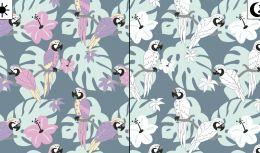 Light Reactive Jersey Fabric   Parrot Paradise Blue