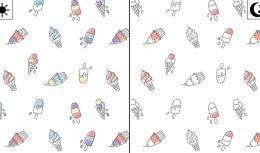 Light Reactive Jersey Fabric | Ice Lollies White
