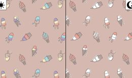 Light Reactive Jersey Fabric   Ice Lollies Dusty Pink