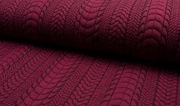 Cable Knit Jersey Fabric   Fuchsia
