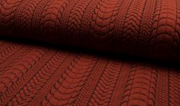 Cable Knit Jersey Fabric | Terracotta