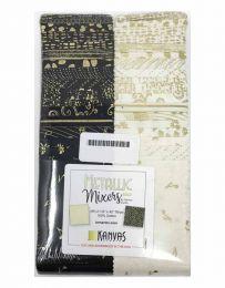 Fabric Strip Pack | Metallic Gold Mixers