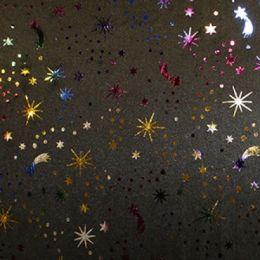 Foil Fabric Print Design | Shooting Star