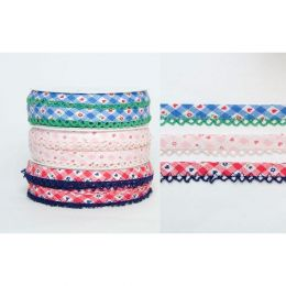 Bias Binding Frilled Edge, 14mm   Multiple Colour Options