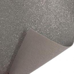 Glitter Felt Fabric Roll, 45cm x 1m Piece | Silver
