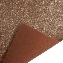 Glitter Felt Fabric Roll, 45cm x 1m Piece | Rose Gold