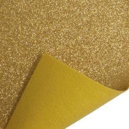 Glitter Felt Fabric Roll, 45cm x 1m Piece | Gold