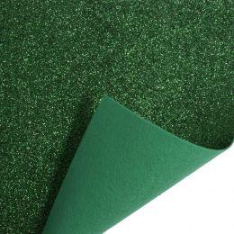 Glitter Felt Fabric Roll, 45cm x 1m Piece | Green