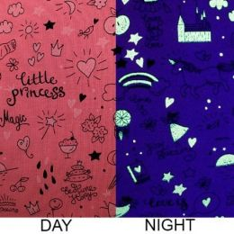Glow In The Dark Jersey Fabric | Little Princess Pink