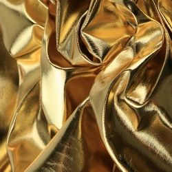 Mirror Foil Metallic Fabric Gold