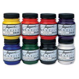 Textile Paint, 8 Colour Set - Primary/Secondary