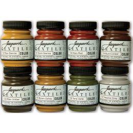 Textile Paint, 8 Colour Set - Earth