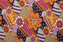 Jersey Cotton Print   Floral Burst